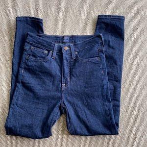 J Crew high rise skinny jeans dark wash size 27